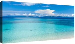 Quadri moderni Stampa su tela Cm 100x50 XXL1 Pezzo Quadro Moderno Mare Spiaggia