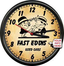Personalized Used Car Sales Salesman Retro Vintage Auto Muscle Sign Wall Clock