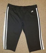NIKE Women's Athletic Capri Shorts LARGE L Medium Black Joggers Sports Pants EUC