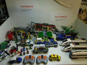 LEGO LOT 60051 60051 60052 TGV LOCOMOTIVE GARE WAGON LEGO CITY ........