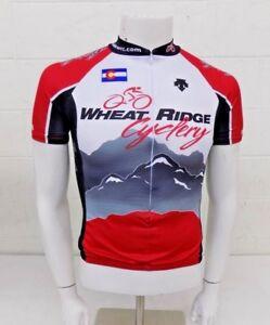 Descente Wheat Ridge Cyclery 3/4-Zip Bike Jersey Size Small GREAT Fast Shipping
