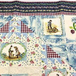 "Custom Quilt ""A Child's Garden"" Designed by Diane Nagle COA 58x58 Classic"