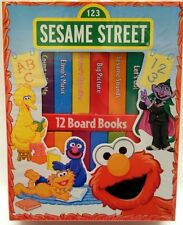 Sesame Street 12 Board Books Educational Build Preschool Skills 10 Mos+ New