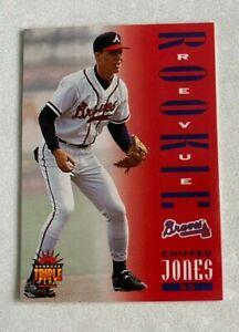 MLB CHIPPER JONES Braves 1994 Donruss Triple Play ROOKIE Revue Trading CARD #281