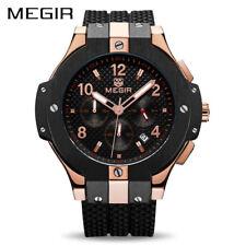 MEGIR Men's Quartz Watch Silicon WristWatch Sports Military Watches waterproof