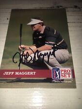 Jeff Maggert Signed 1992 Golf Card