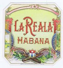 La Reala, original outer cigar box label, typography