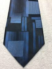 ARROW MENS TIE BLACK WITH BLUE 3.75 X 60 NWOT