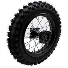 12 Inch Complete Rear Wheel for Dirt Bikes 1.85-12 Rim 12mm Axle 80/100-12 Tyre