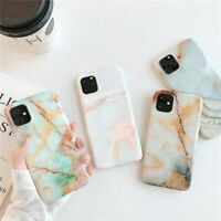 Case for iPhone 11 11 Pro Max Soft Marble Pastel Phone Cover Shockproof