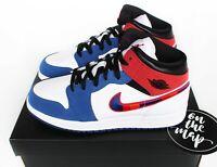 Nike Air Jordan 1 Retro Mid SE White Red Rush Blue UK 3 4 5 6 7 8 10 11 US New