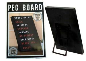 A4 Peg Board Message Board Display Retro Home Kitchen Memo Notice 350 Letters