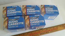 5 Pks of 5 ProGuard Audio Cassette Tape Replacement Cases Empty Jewel Case