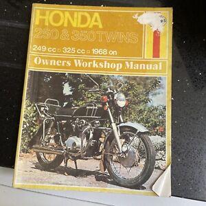 Honda CB250 and CB350 Twins 1968 on: Haynes Workshop Repair Manual Paperback