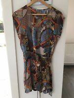 SCANLAN And THEODORE Silk Dress With Slip Size 8 New Without Tags