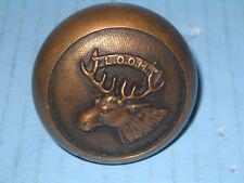 Antique Loyal Order of Moose Figural Brass Early Door Knob L.O.O.M.