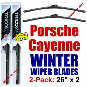 WINTER Wiper Blades 2-Pack Premium - fit 2009-2012 Porsche Cayenne - 35260x2