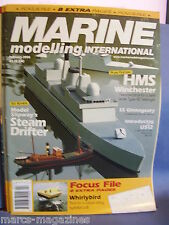 MODEL BOATS MARINE MODELLING FEBRUARY 2006 HMS WINCHESTER SS GLENAGEARY US12