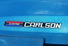 GLASTRON CARLSON EMBLEMS used on CVX 20 engine cover and other models 78 & up
