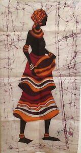 JEE HUMMET AFRICAN WOMAN ORIGINAL BATIK PAINTING