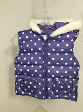 NWT Girls Gymboree Hooded Vest Puffer Jacket Size 4-5t