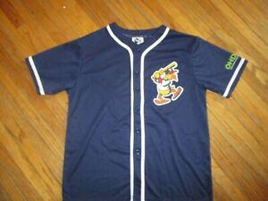 TOLEDO MUD HENS JERSEY Minor League Baseball Muddy Mascot Blue Kids YOUTH XL