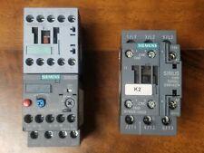 LOT OF 2 SIEMENS 3RT1016-1AF01 CONTACTOR W/ 3RU6116-1GB0 & 3RT6025-1AG20