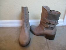 Alberto Fermani Taupe Side Zip Boots For Women Size 37.5 US 7