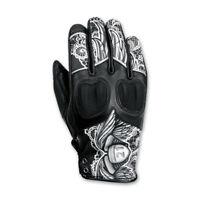 NWT Highway 21 Women's Vixen Black/White Leather Gloves Size XL
