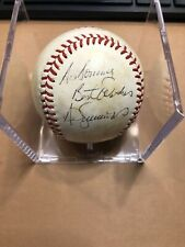 RARE BREWERS Ted Simmons signed 1982 World Series GU Ball AUTO Autographed READ