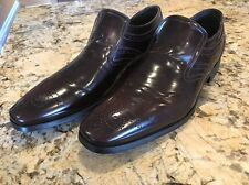 New Mike Konos MKP Made In Italy Brown Dress Shoes Loafers Slip On Size 11.5