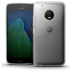 Glossy TPU Gel Case Skin for Motorola Moto G5 Plus Bumper Cover Screen Protector