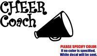 "CHEER COACH Decal Sticker JDM Funny Vinyl Car Window Bumper Truck Laptop 7"""