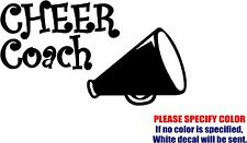 CHEER COACH Decal Sticker JDM Funny Vinyl Car Window Bumper Truck Laptop 7""