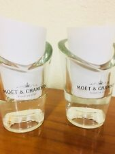 MOET CHANDON CHAMPAGNE GLASS CRYSTAL VOTIVE CANDLE HOLDERS - SET OF 2