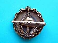 RUSSIA IMPERIAL NAVY  OFFICERS SUBMARINE BADGE,sterling,,hallmarks very rare