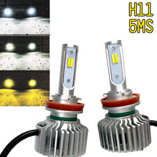 2pcs H11 H8 4014 LOW BEAMS T5 Bulbs HIGH POWER CSP 3 Color 5MS For Mazda Suzuki