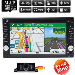 "Double Din 6.2"" Car Radio Stereo DVD Player GPS Navigator Touchscreen BT+Camera"
