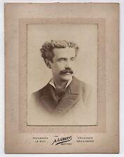 PHOTO ANCIENNE Homme A. Liébert Paris Londres Photographie la nuit Vers 1900