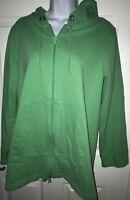 Orvis Full Zip Hoodie Lightweight Knit Jacket - Green Women's Medium