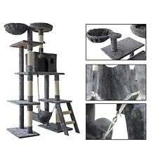 New listing 64'' Multi-Level Cat Tree Tower Condo with Ladder Hammock & Scratching Posts