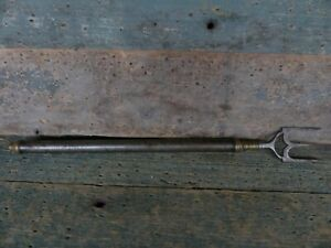 antique fireplace hearth meat fork ornate circa 1800 expandable