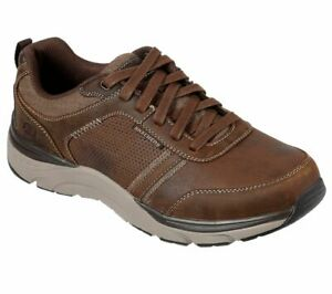 Skechers Homme USA SENTINAL LUNDER Chaussures Basses Homme Braun