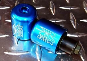 Suzuki GSX-R Engraved BLUE Bar Ends / Sliders GSXR 600 750 1000 1100