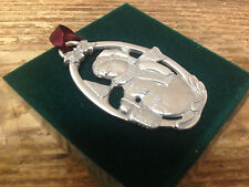 Longaberger Christmas Ornament in Box Pewter Snowman 1999 Holiday Darling