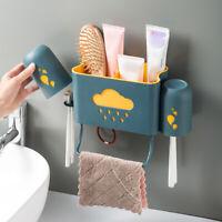 DI- IC- AG_ KQ_ DI- Kitchen Bathroom Shampoo Toothbrush Holder Wall Storage Rack
