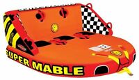Sportsstuff  Super Mable Towable Inflatable Water Ski Deck Tube   3 rider