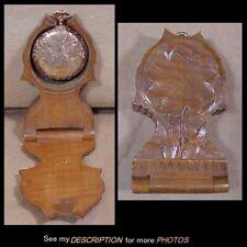 1895-6 Elgin Ladies Gold Filled Pocket Watch & Wooden Watch Holder