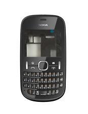 Nokia Asha 201 Full Housing Keypad Chassis Back Door Screen Lens Black
