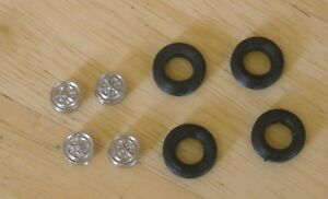 """1/43rd scale 13"""" rostyle  wheels  and tyres by K&R Replicas for cars"""